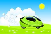 Hydrogen car concept — Stock Vector