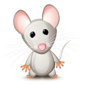 Little gray mouse — Stock Vector