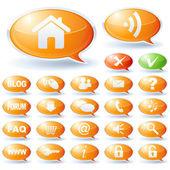 Internet speech bubbles collection — Stock Vector