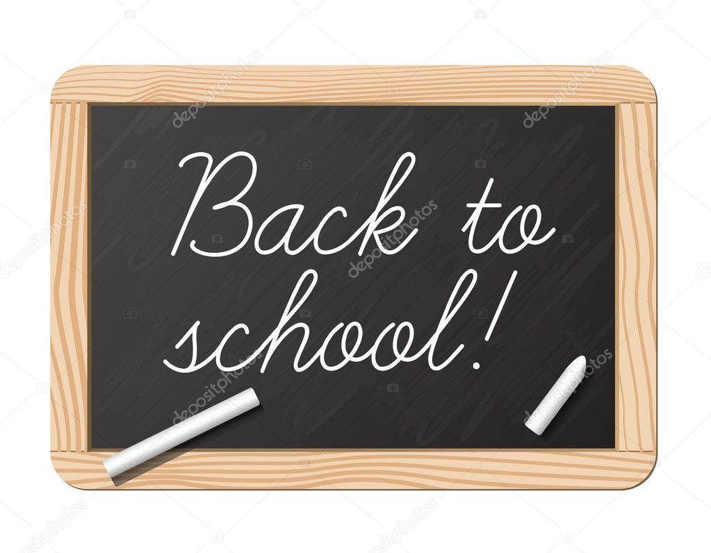 Blackboard and chalk for back to school — Stock Vector #2855078