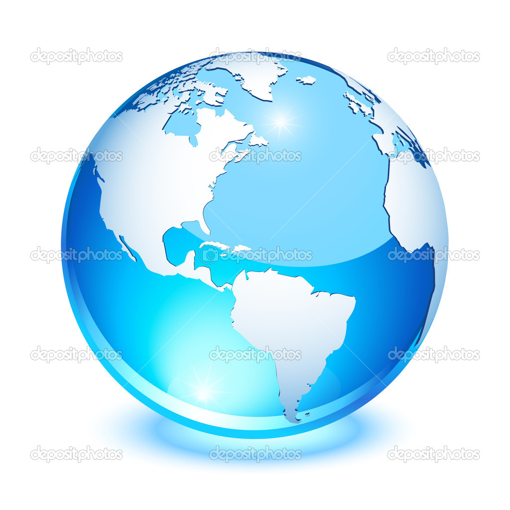 Blue crystal earth showing north and south America  Stock Vector #2855174