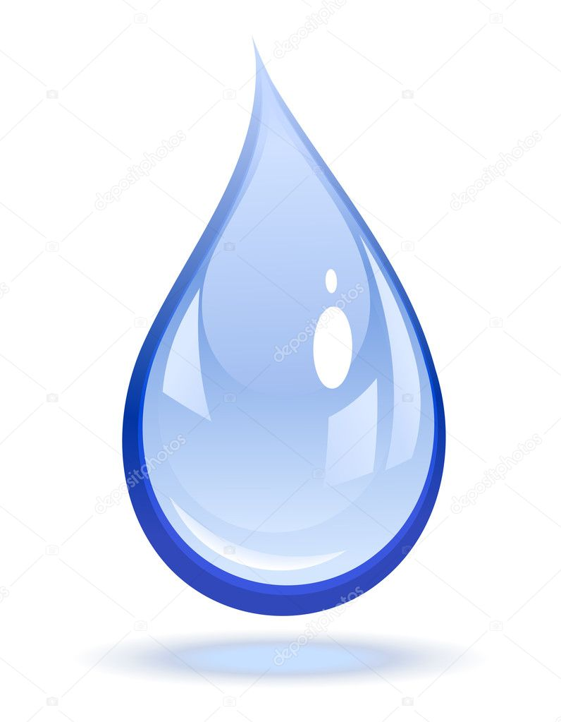 Vector illustration of a water drop   Imagens vectoriais em stock #2855181