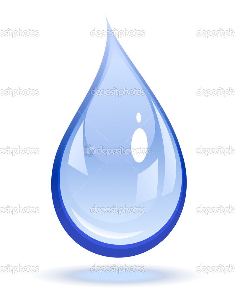 Vector illustration of a water drop     #2855181