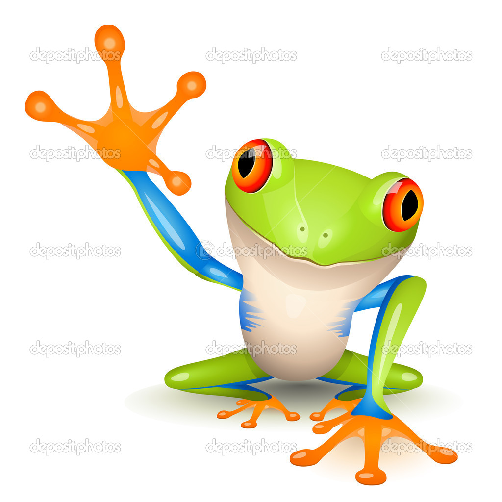 Little tree frog on white background — Imagen vectorial #2855232