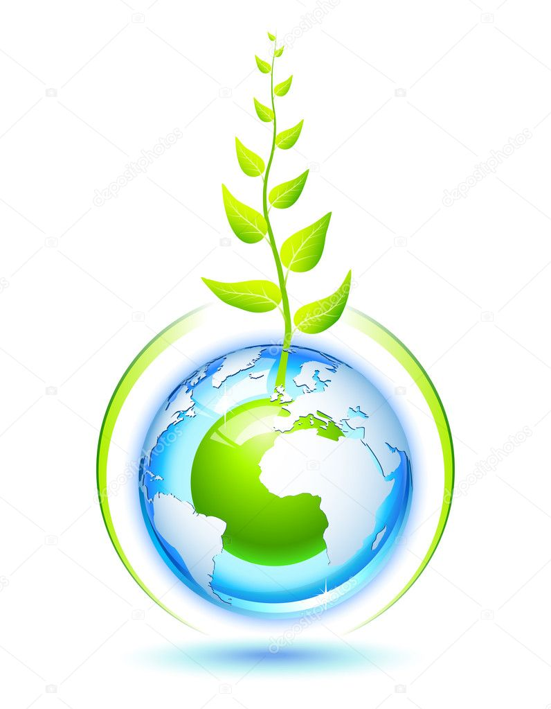 Environmental concept for preservation of the Earth — Stock Vector #2855249