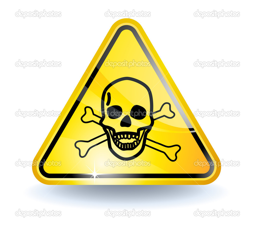 Poison sign with glossy yellow surface  Stock Vector #2855297