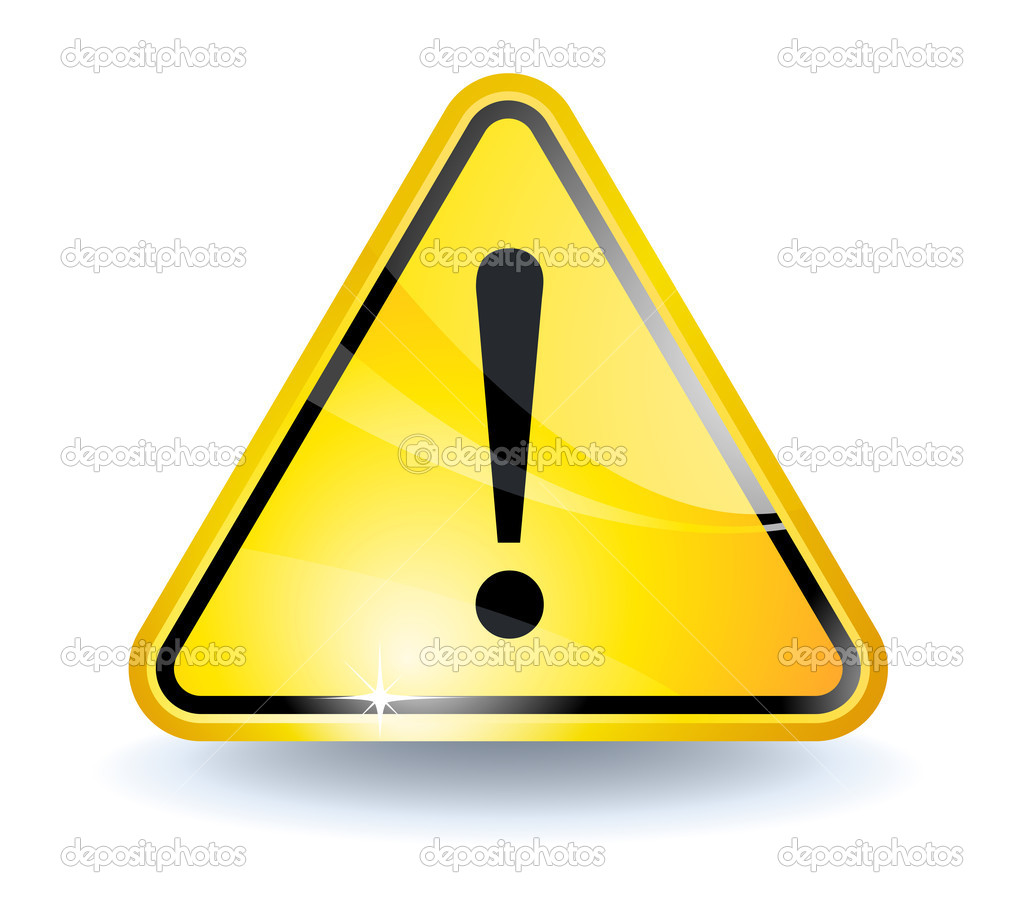 Attention sign with glossy yellow surface — Stock Vector #2855300