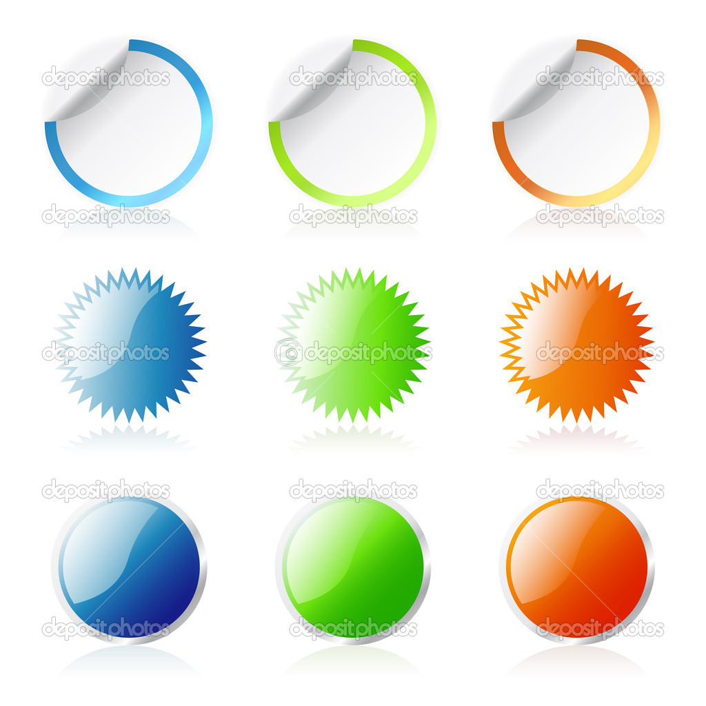 Glossy round stickers — Stock Vector #2855333