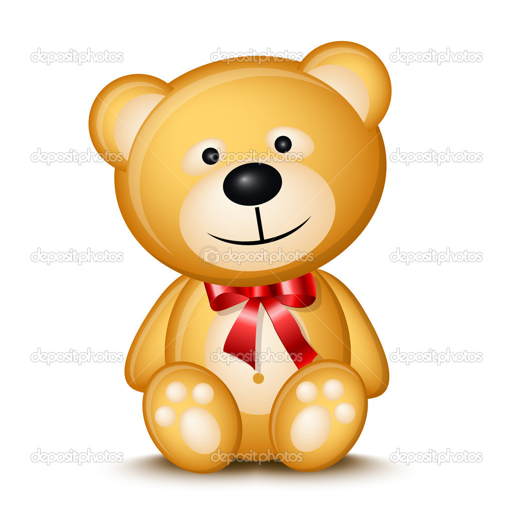Little teddy bear isolated on white background — Stock Vector #2855348