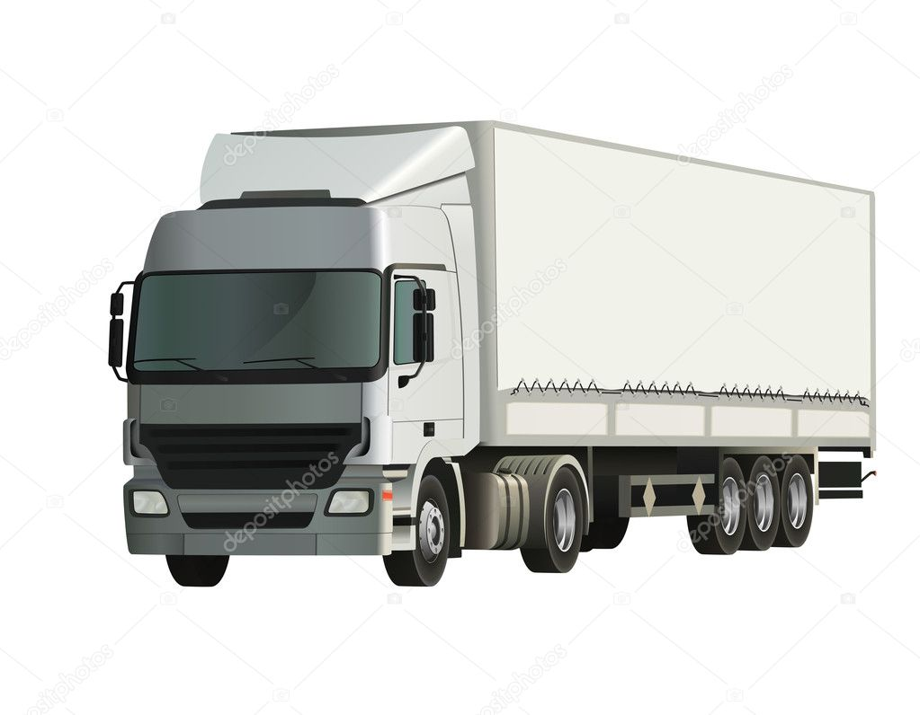 Semi-trailer truck, detailed and realistic vector illustration  Stock Vector #2855357