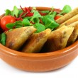 Samosas in a bowl - Stock Photo