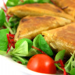 Royalty-Free Stock Photo: Samosas white on left