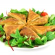 Stock Photo: Samosas on plate