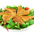 Samosas on plate — Stock Photo #2902125