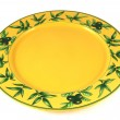 Yellow empty plate — Stock Photo