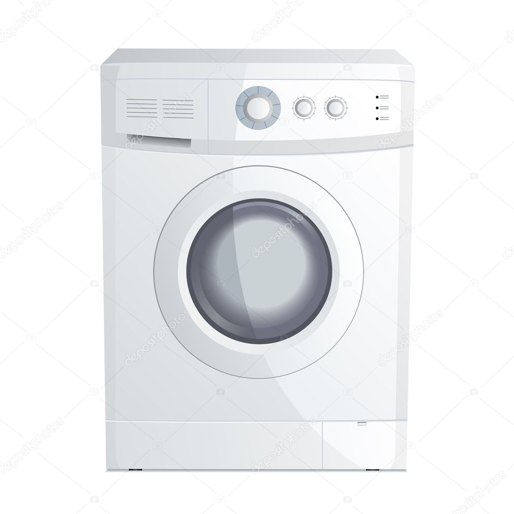 Vector illustration of a realistic washing machine  Stock Vector #2902185