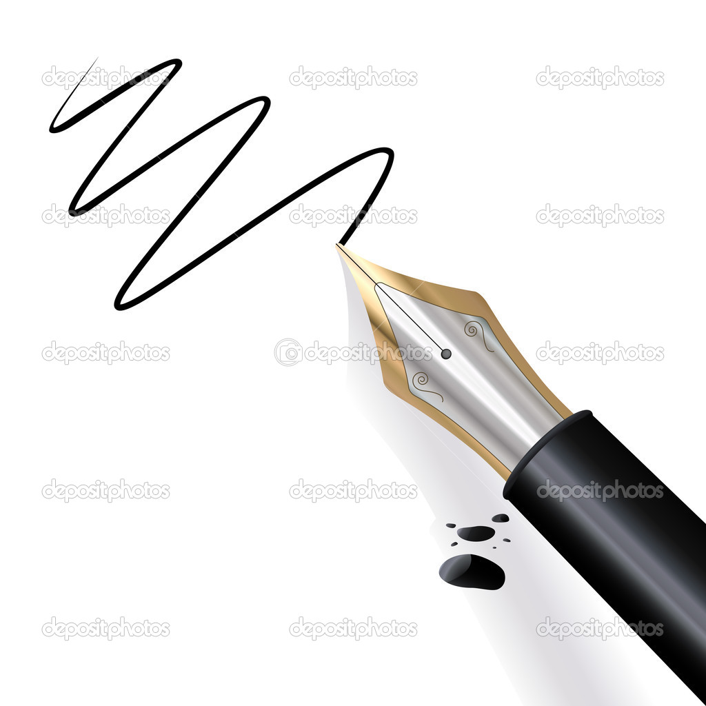 Writing Fountain Pen Stock Vector Tiloligo 2902188