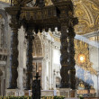The baldacchino of Saint Peter — Stock Photo