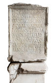 Engraved stone in Coliseum — Stock Photo