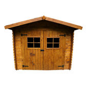 Wooden Garden Shed (Isolated) — Stock Photo