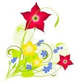 Fresh floral composition — Stock Vector