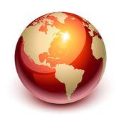 Tierra roja — Vector de stock