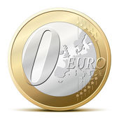 0 Euro coin — Stock Vector