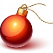 Shiny red christmas ornament — Stock Vector