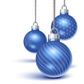 Blue christmas ornaments — Stock Vector