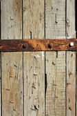 Aging Wood with Rusty Hinge — Stock Photo