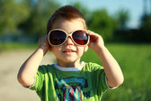 Boy in Sun Glasses and Sunny Summer — Stock Photo
