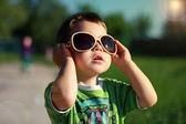 Amazing Boy in the Stylish Sunglasses — Stock Photo