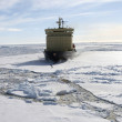 Stock Photo: Icebreaker on Antarctica