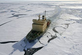 Icebreaker on Antarctica — Stock Photo