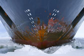 Hull of an icebreaker — Stock Photo