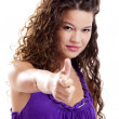 Girl with thumbs up — Stock Photo #3804016