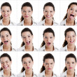 Diferent expressions — Stock Photo