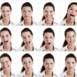 Stock Photo: Diferent expressions