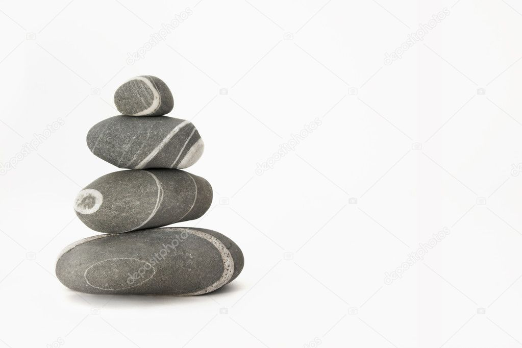 Stones isolated on a white background — Stock Photo #4072478
