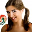 Lollypop Girl — Stock Photo