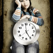 Royalty-Free Stock Photo: Clock Woman