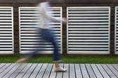 Woman walking — Stock Photo