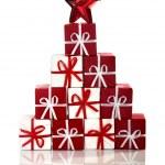 czerwone ozdoby świąteczne — Zdjęcie stockowe