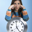 Clock Woman — Stock Photo