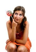 Lollypop Girl — Stock Photo