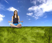 Haciendo yoga — Foto de Stock