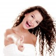Stock Photo: Happy young woman