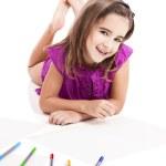 Girl making drawings — Stock Photo #4293889
