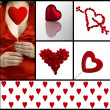 Valentine collage — Stock Photo