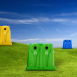 Recycle containers — Stock Photo